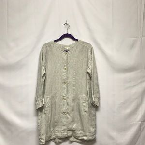 Eileen Fisher button up dress Size M